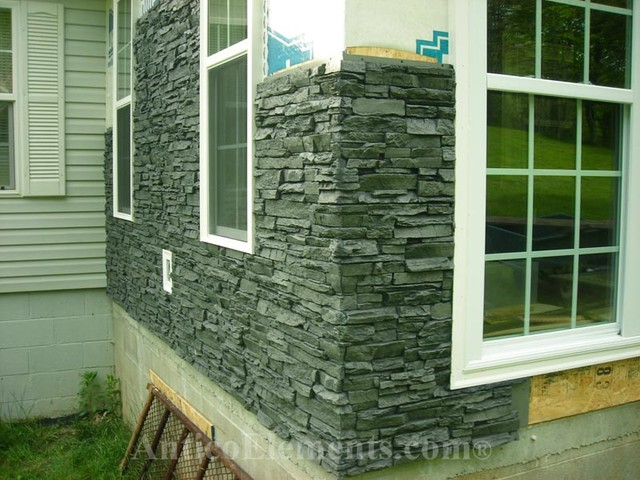 Outdoor Uses For Faux Stacked Stone Traditional Exterior Philadelphia Antico Elements