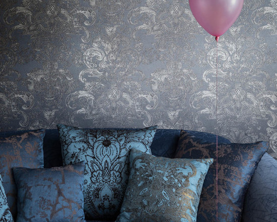Rubelli Barbarigo Wallpaper - BARBARIGO WALL IS THE REPRODUCTION OF A WALL COVERING IN ENGRAVED LEATHER TYPICAL OF THE VENETIAN BAROQUE, ALSO KNOWN AS CUORIDORO, WHICH CAN STILL BE ADMIRED IN PALAZZO DUCALE.