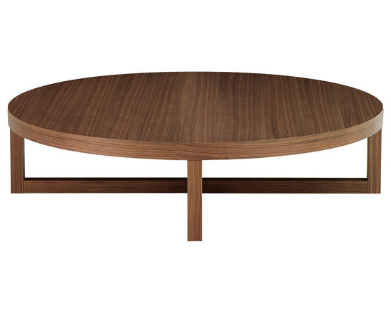 Poliform Yard coffee table - Seat of round and square coffee tables, designed by Paolo Piva, with frame in chromed metal or in wood.