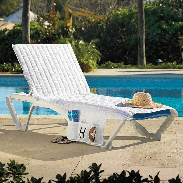 Resort stacking chaise velour cover traditional outdoor chaise lounges - Chaise pliante velours ...