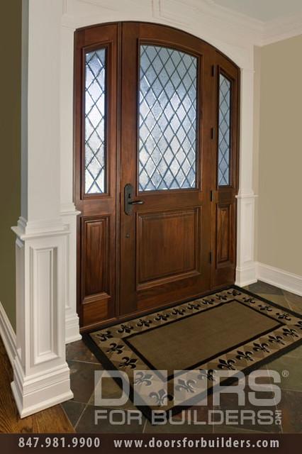 SOLID WOOD ENTRY DOORS-DIAMOND GLASS-DOORS FOR BUILDERS, INC traditional-front-doors