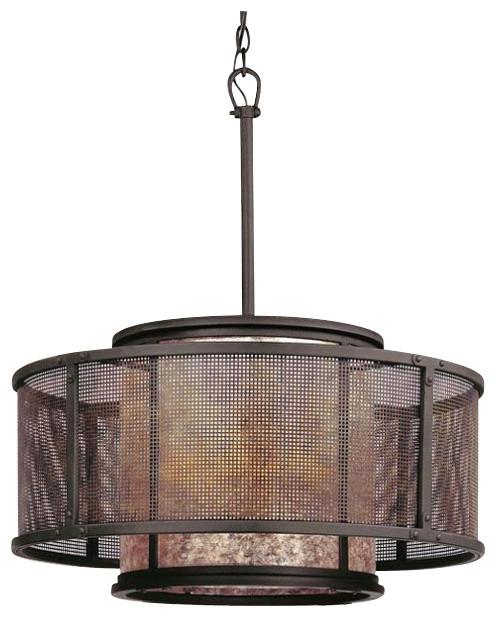 Copper Mountain 6-Light Pendant contemporary-pendant-lighting