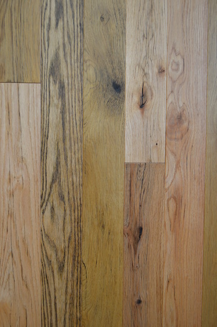 Reclaimed rustic and distressed hardwood floors rustic for Distressed wood flooring