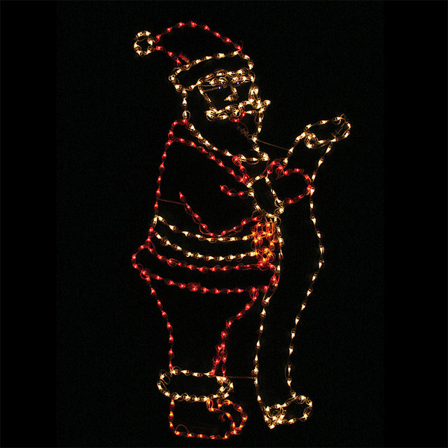 Lighted outdoor santa with list outdoor christmas Traditional outdoor christmas decorations