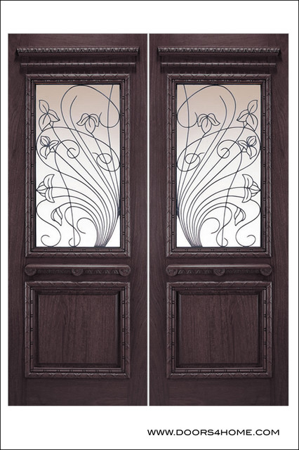 Old World Entry Doors Model 155 Porto Contemporary