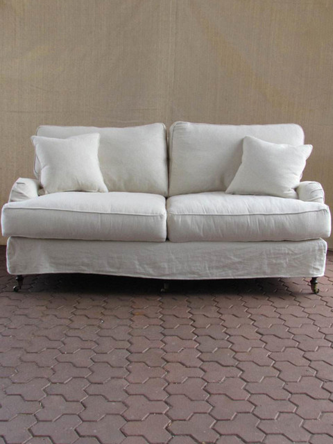 Eclectic Sofa : natural slipcovered sofa – 74″ - Eclectic - Sofas - austin - by ...