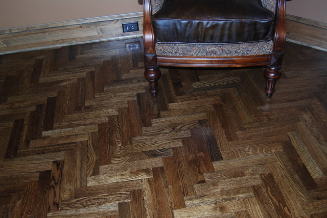 Herringbone oak hardwood floor modern hardwood for Hardwood floors kansas city