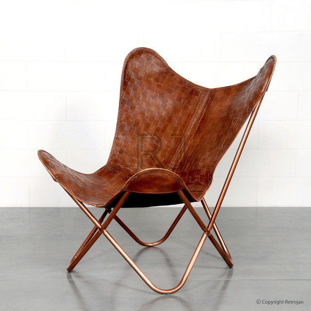 xavier leather butterfly chair