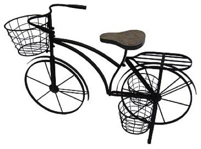 Sonoma outdoors bicycle plant stand eclectic plant stands and telephone tables by kohl 39 s - Bicycle planter stand ...