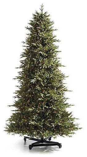 Pre-lit Nordmann Fir Pro Shape Artificial Christmas Tree. with FlipTree Stand & traditional-holiday-decorations