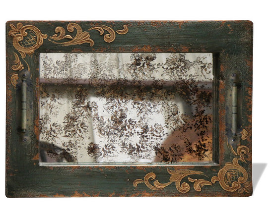 Accessory Tray - This piece is a hand crafted and hand painted eco-friendly piece that is also a certified one of a kind furnishing and decor product.