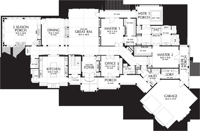 his-hers vanity floorplan