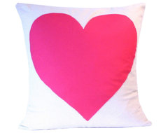 Heart It Pillow Cover, Pink contemporary-pillows
