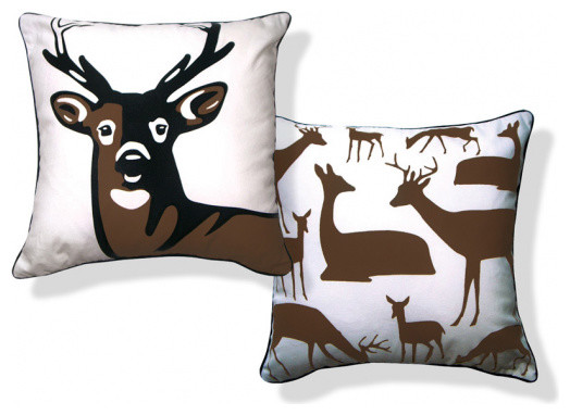 Oh Deer eclectic-decorative-pillows