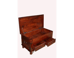 Takhat Coffee Table Trunk with 2 Drawers traditional-coffee-tables