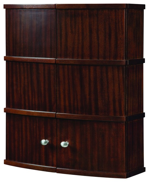 decolav 5253 mmg wall cabinet in mahogany modern