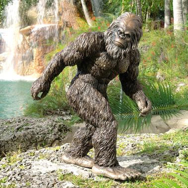 Bigfoot Garden Yeti - Large eclectic-garden-statues-and-yard-art