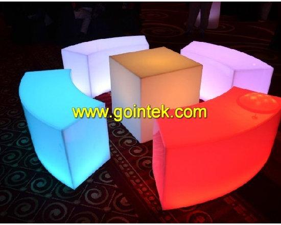 LED glowing longe bench -