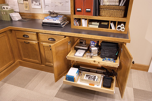 Office Cabinet with Roll Out Storage - Filing Cabinets - minneapolis - by Mid Continent Cabinetry