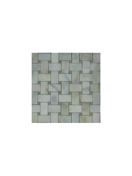 Calacatta Marble Basketweave Mosaic Tiles - store.missionstonetile.com  has low pricing, and Free Shipping on Basketweave Mosaic Tiles for your bathroom floor, shower floor, shower wall accent tile, kitchen backsplash, and more.