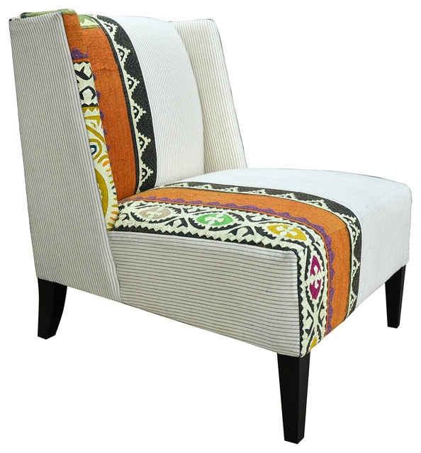 Triton Modern Rustic Patterned  Pin Stripe Cochin Accent Chair transitional-armchairs-and-accent-chairs