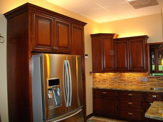 Cherry Rope Kitchen Cabinets Home Design Traditional Kitchen Cabinetry Columbus By Lily