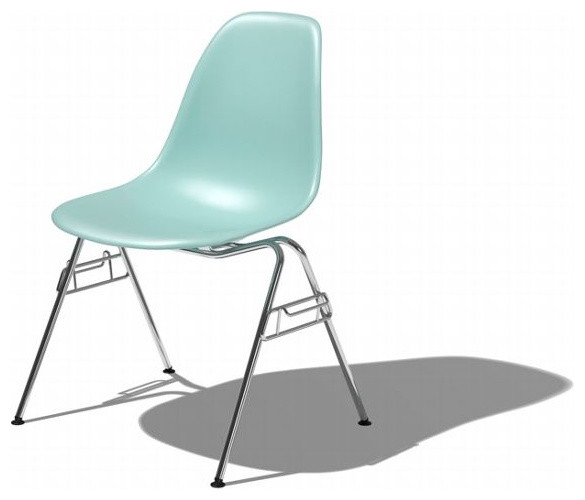 Eames Molded Plastic Stacking Side Chair DSS Midcentury