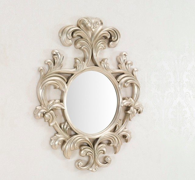 Geneve decorative wall mirror large wall mirror for Large silver modern mirror