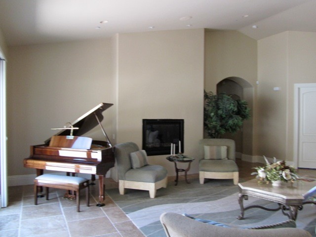Fireplace BEFORE contemporary