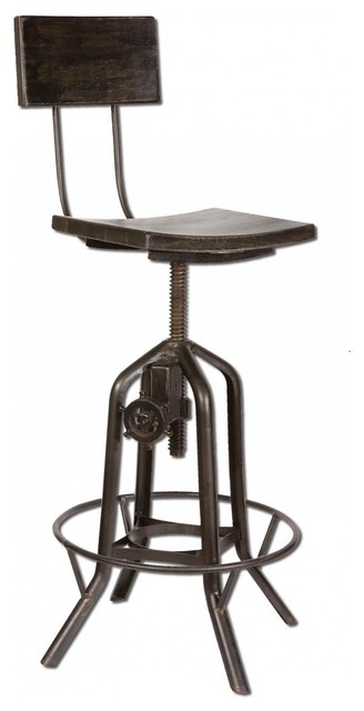 Industrial Crank Bar Stool Eclectic Office Chairs