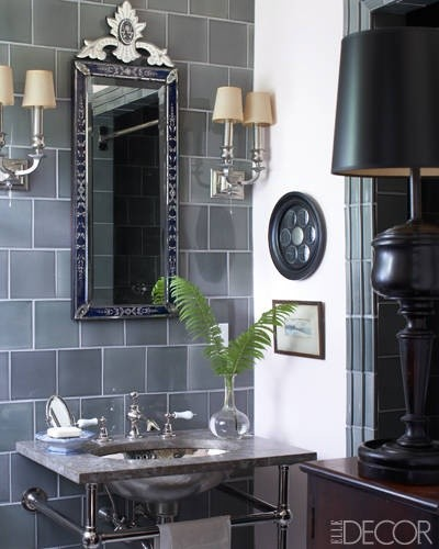 Masculine Bath as seen in Elle Decor. - traditional - other metro