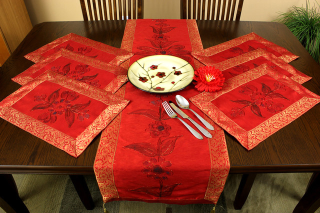 Placemat Sets tropical table linens
