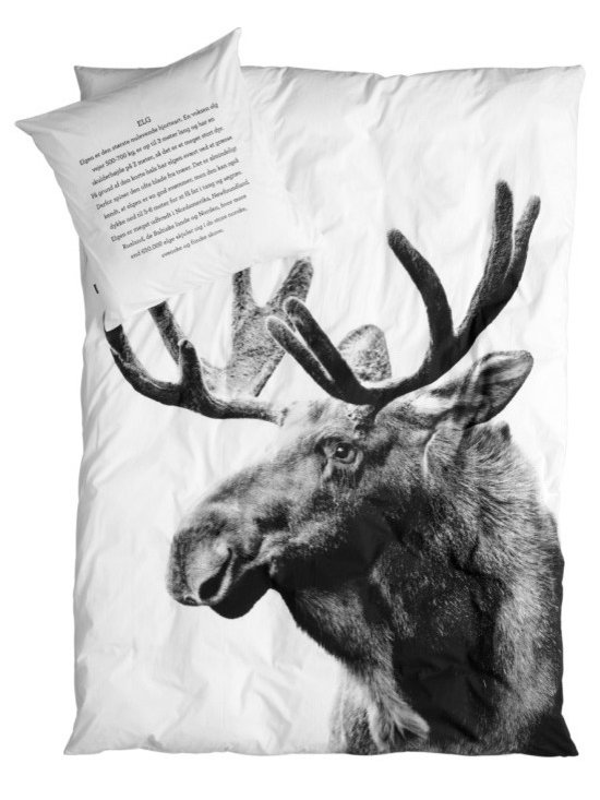 SNOKU - Bed Linen Moose - Pure organic, simple and cozy duvet with moose print.