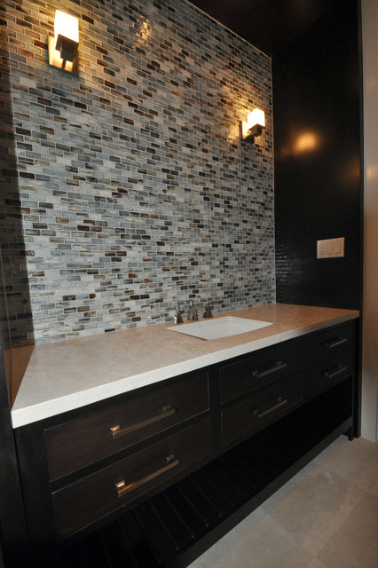 Sumi E Glass Bathroom Backsplash Bathroom Tile