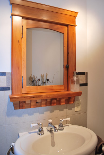 Built-In Custom Wood Medicine Cabinet - Craftsman - Makeup Mirrors - vancouver - by Saratoga ...