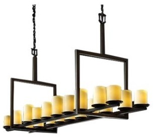 CandleAria Dakota Really Big Bridge Linear Suspension contemporary-pendant-lighting