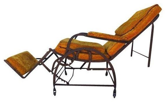 Pre owned Antique Wrought Iron Reclining Chair Mediterranean Outdoor Chai