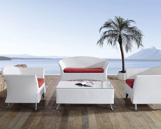 Alkona 4-Pieced Patio Sofa Set - Refreshing styling meets all weather versatility with this Alkona Patio Sofa Set.