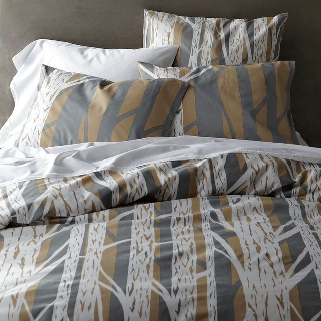 Tree Bark Duvet Cover and Shams contemporary bedding