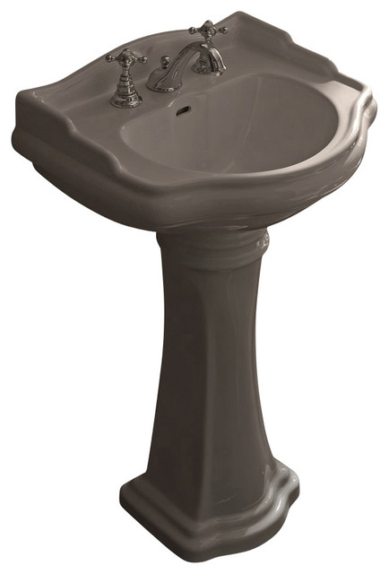 WS Bath Collections Retro Pedestal Sink with One Faucet Hole - Contemporary - Bathroom Sinks ...
