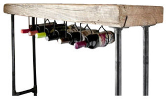 "Modern Industry Wine Table and Rack - Standard, 48"" x 11.5"" rustic-indoor-pub-and-bistro-tables"