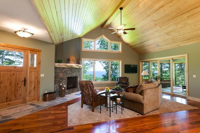 New Construction-Lake Leelanau #2 rustic-living-room
