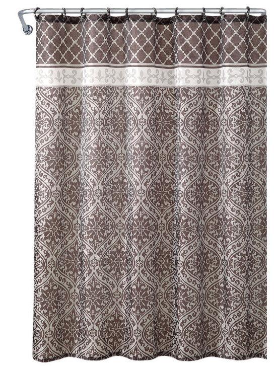 "Shower Curtain- Riminie Embossed Microfiber - 72""x 72"" - Riminie Embossed Microfiber Shower Curtain- 72""x 72"""