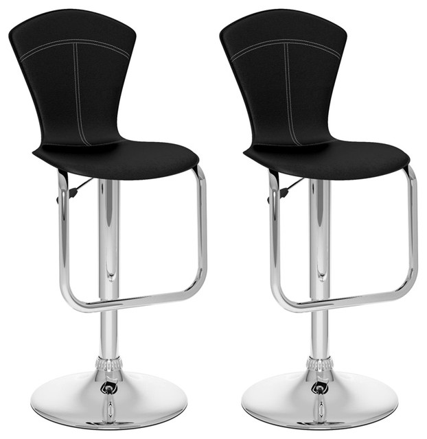 sonax corliving tapered back bar stool in black