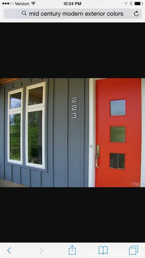 Mid century modern exterior paint colors for Mid century modern house colors