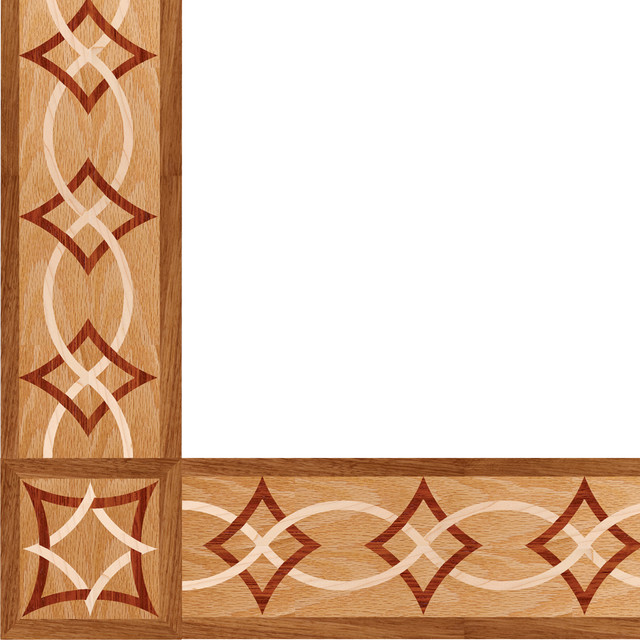 Oshkosh designs arizona inlay border and corner modern Hardwood floor designs borders