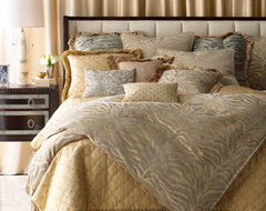 ISABELLA COLLECTION Nairobi Bed Linens Zebra Pillow, 20Sq. traditional-bed-pillows