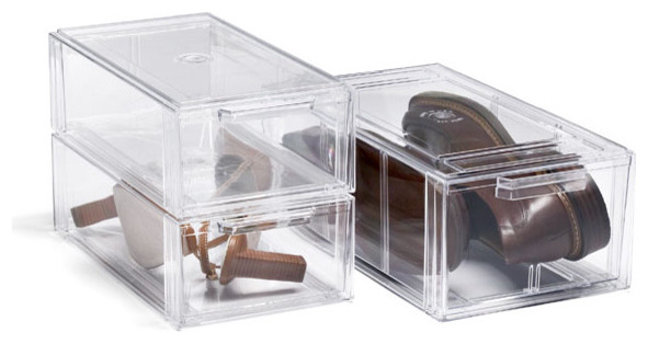 Clear Shoe Drawers modern clothes and shoes organizers
