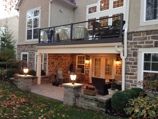 Columbus Second-Story Deck Over Patio Creates Dry Space traditional