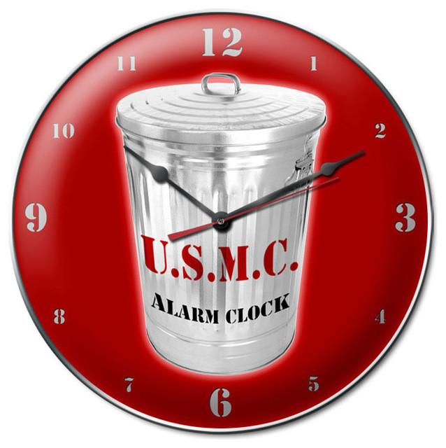 USMC Alarm Vintage Clock modern-clocks